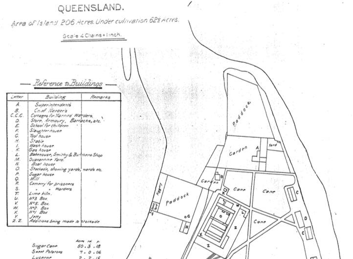 Superintendent's Garden 1887 map