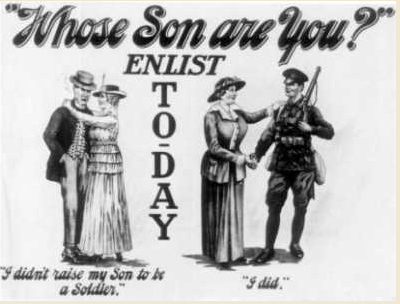 WW1 conscription cartoon