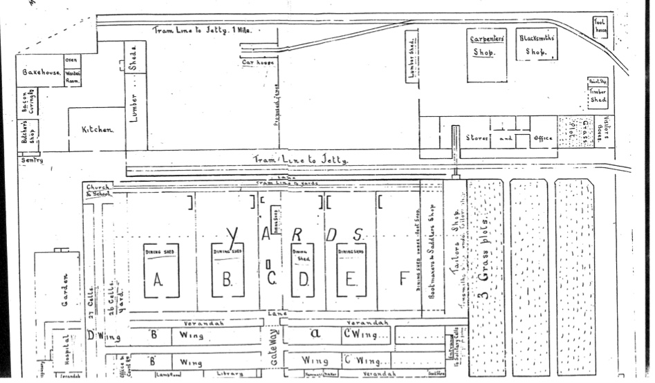 1901 plan of stockade