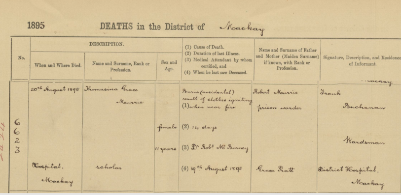 Thomasina Murrie death certificate cropped